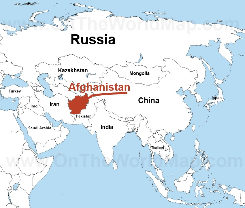 map of the world afghanistan you can see a map of many places on
