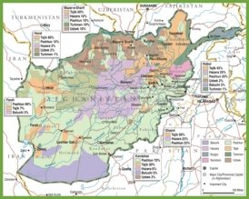 Ethno-linguistic map of Afghanistan