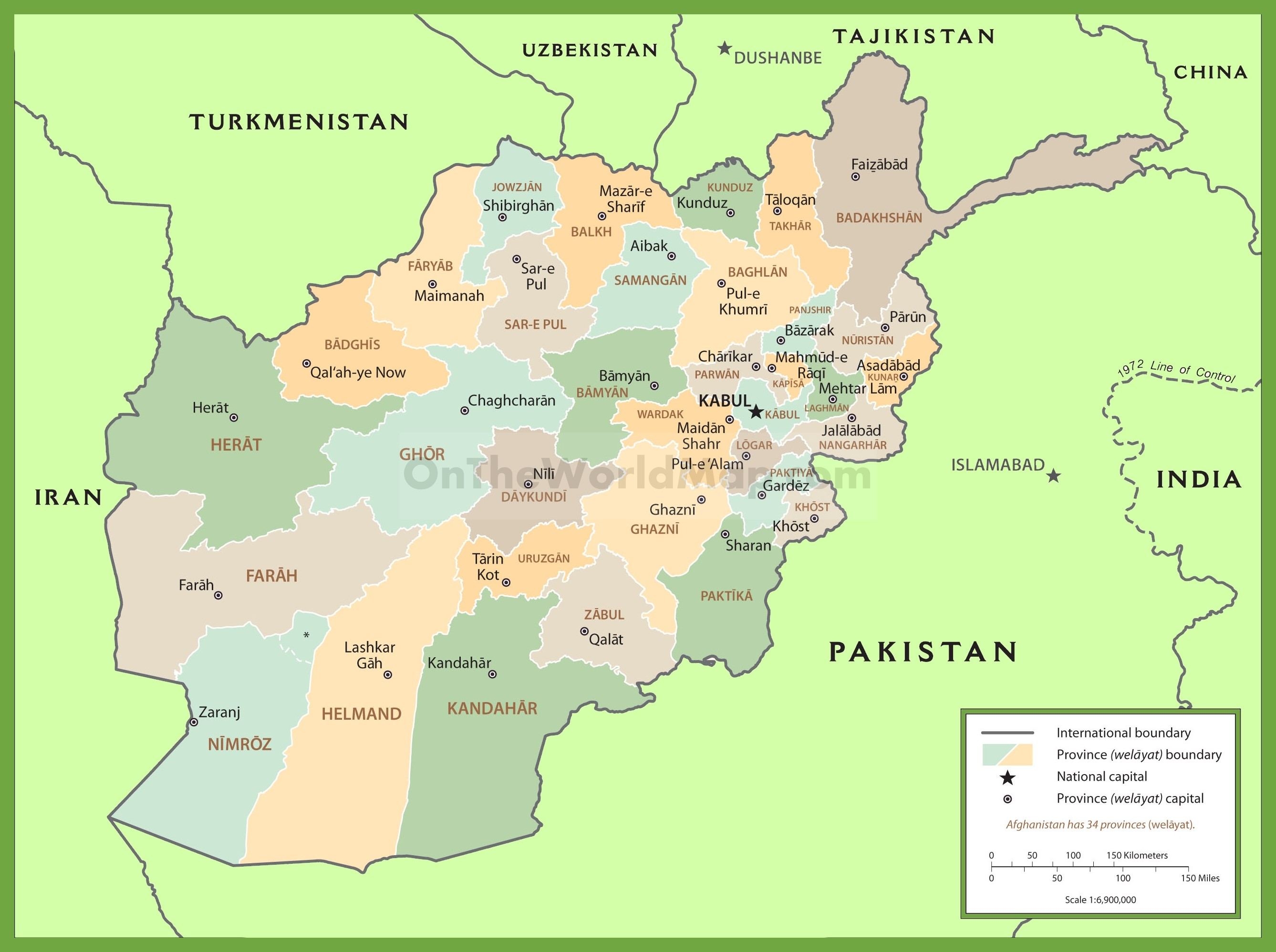 Badghis afghanistan map