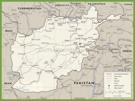 Road map of Afghanistan