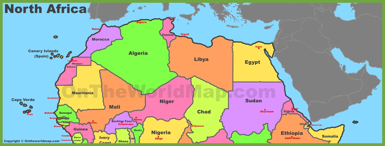 Map Of North Africa Map of North Africa Map Of North Africa