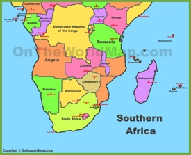 Africa maps maps of africa ontheworldmap map of southern africa publicscrutiny Image collections
