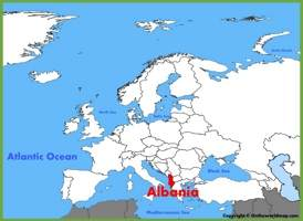 Albania location on the Europe map
