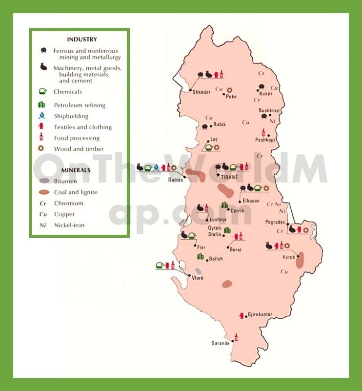 Economic map of Albania