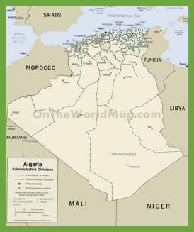 Administrative map of Algeria