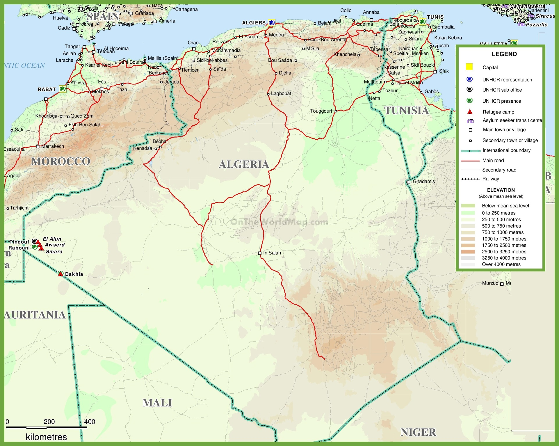 algeria maps  maps of algeria - large detailed map of algeria