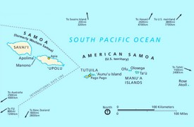 political map of american samoa