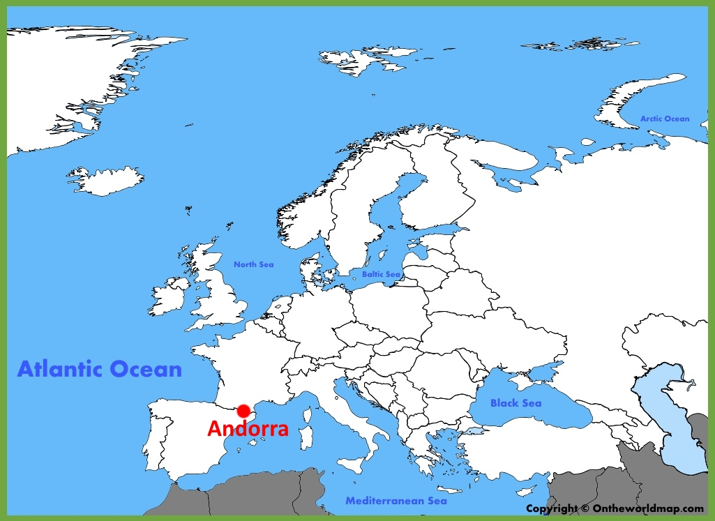Andorra location on the Europe map