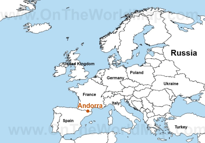 Andorra Map Spain Images - Where is andorra