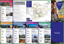 Large bus turistic map of Andorra