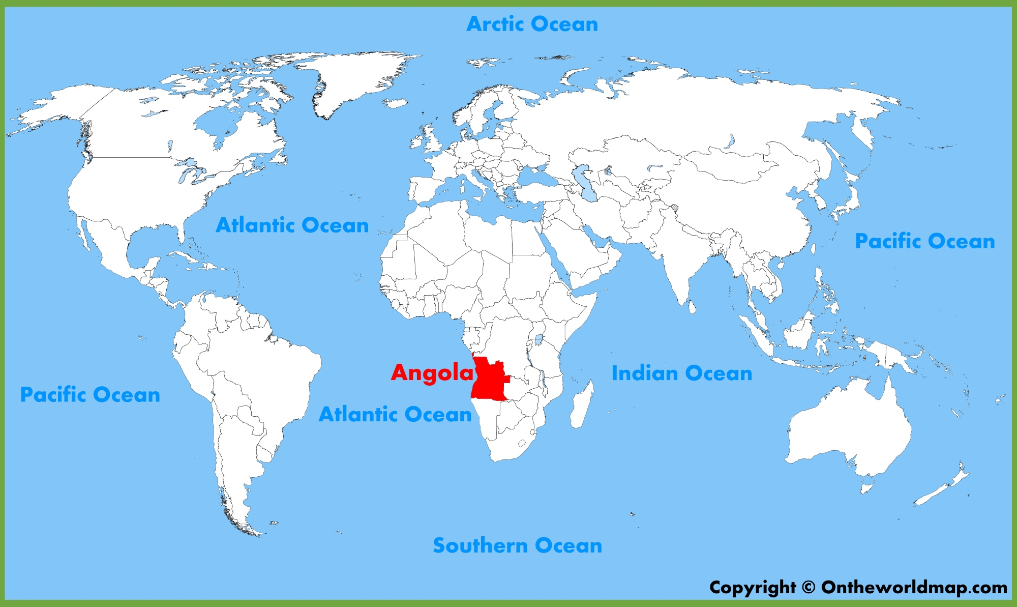 Angola Maps Maps Of Angola - Angola road map