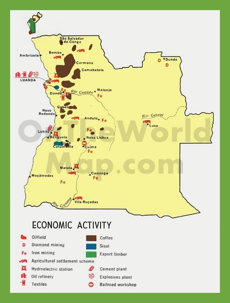 Economic map of Angola