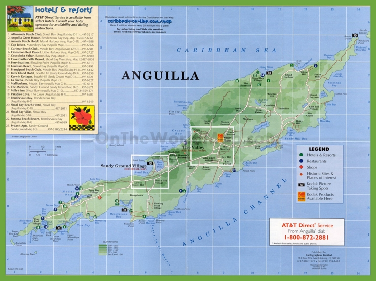 Travel map of Anguilla