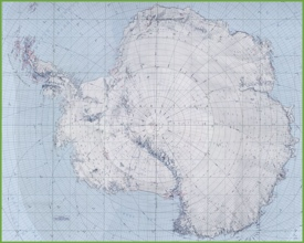 Topographic map of Antarctica