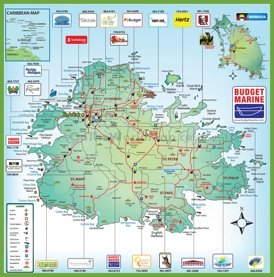 Detailed travel map of Antigua and Barbuda