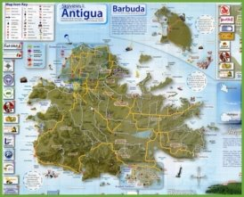 Tourist map of Antigua and Barbuda