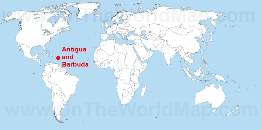 antigua and barbuda location on world map