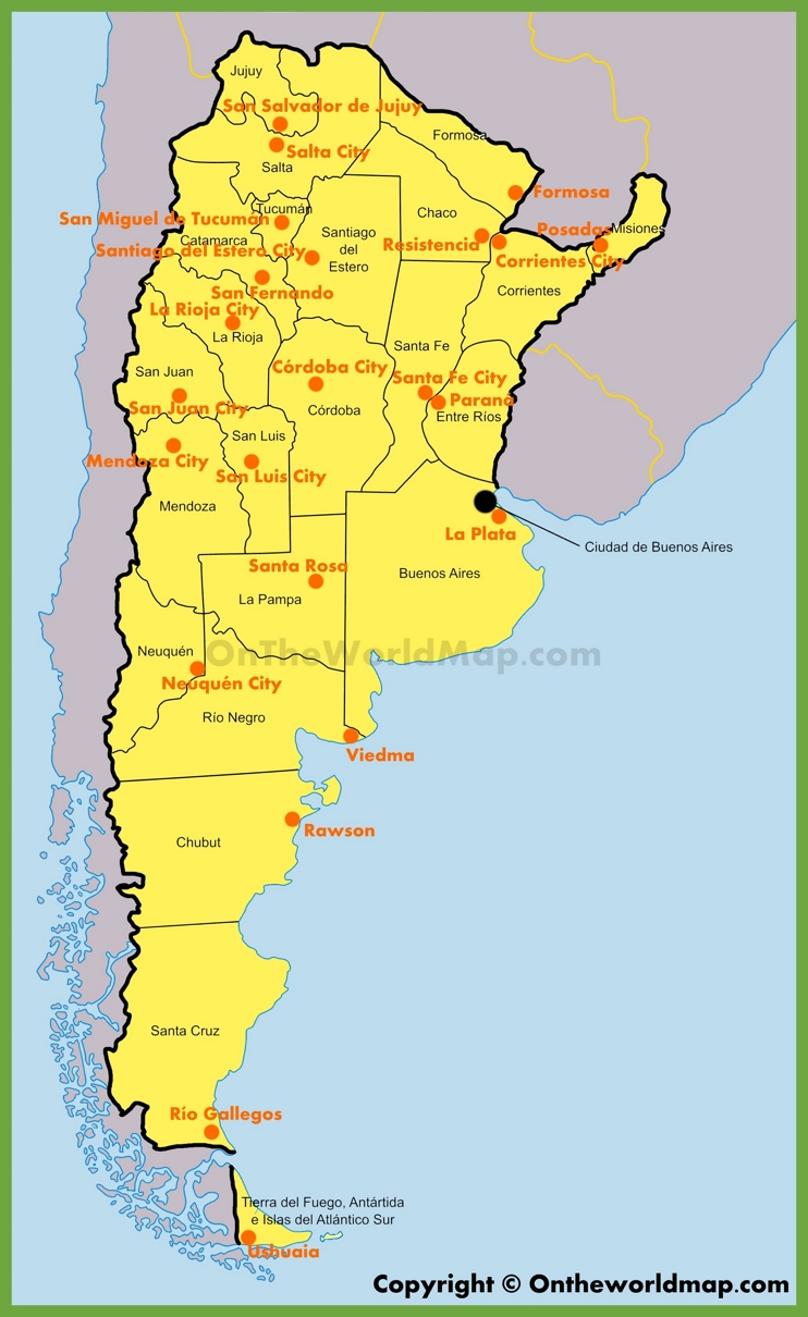 Administrative map of Argentina