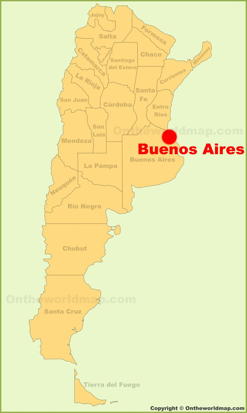 where is buenos aires argentina on the map Buenos Aires Location On The Argentina Map where is buenos aires argentina on the map