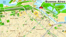 Buenos Aires sightseeing map