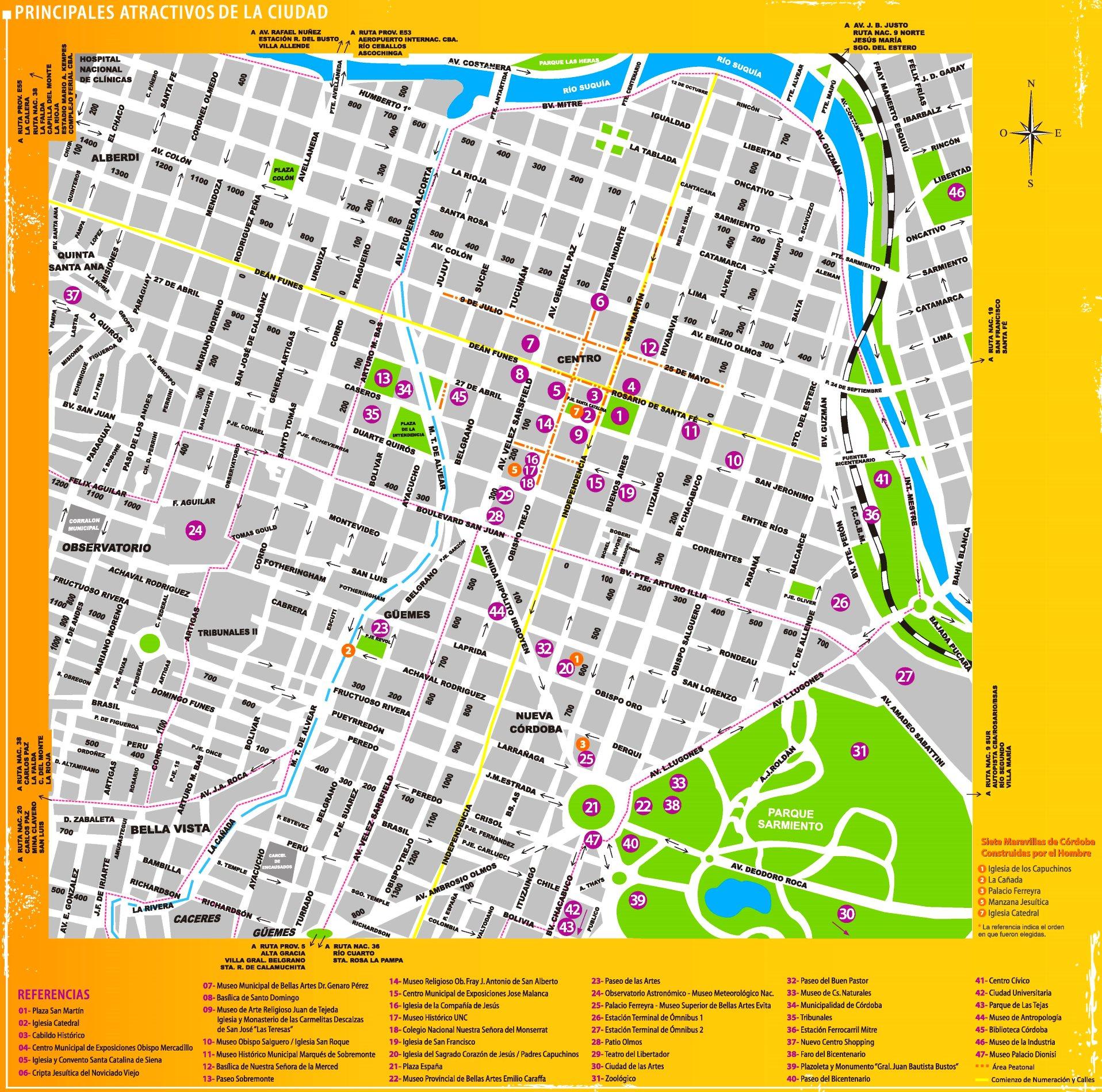 Cordoba Argentina Map Córdoba (Argentina) tourist map