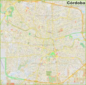 Large detailed map of Córdoba