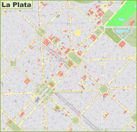La Plata city center map