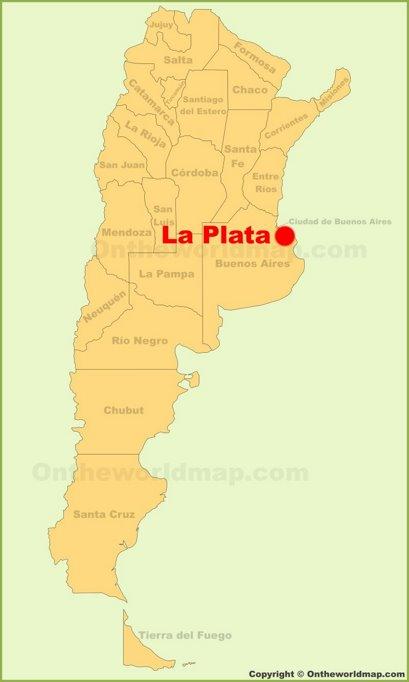 La Plata Location Map