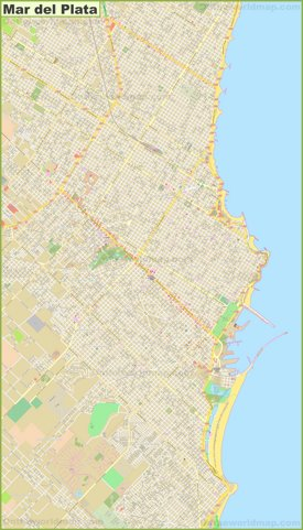Large detailed map of Mar del Plata