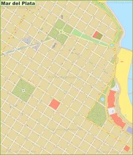 Mar del Plata city center map