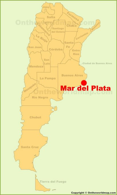 Mar del Plata Location Map