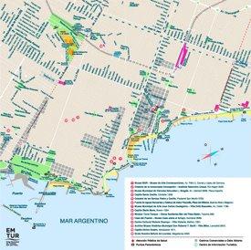 Mar del Plata tourist map