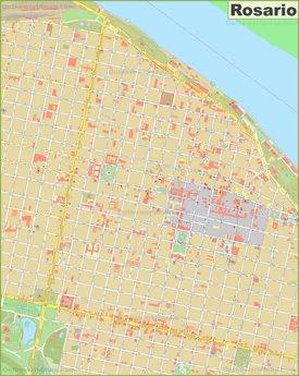 Rosario city center map