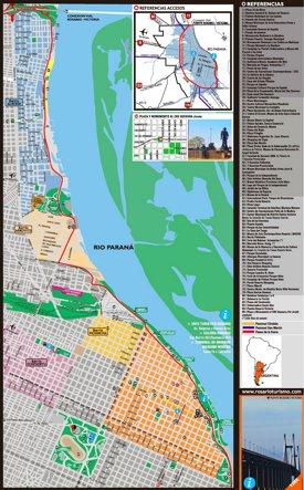 Rosario tourist map