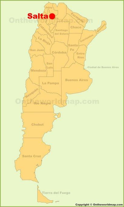 Salta Location Map
