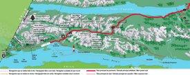 Tourist map of surroundings of Ushuaia