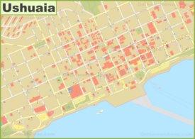 Ushuaia city center map
