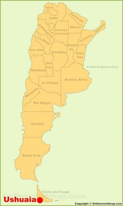 Ushuaia Location Map