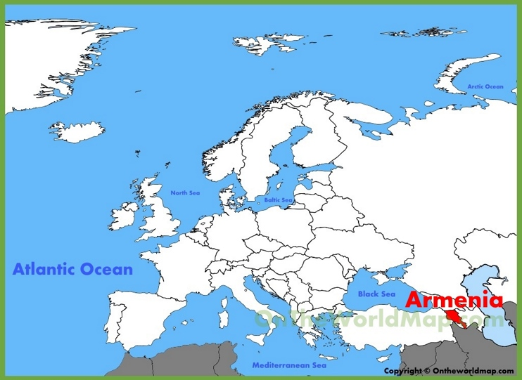 Armenia location on the Europe map