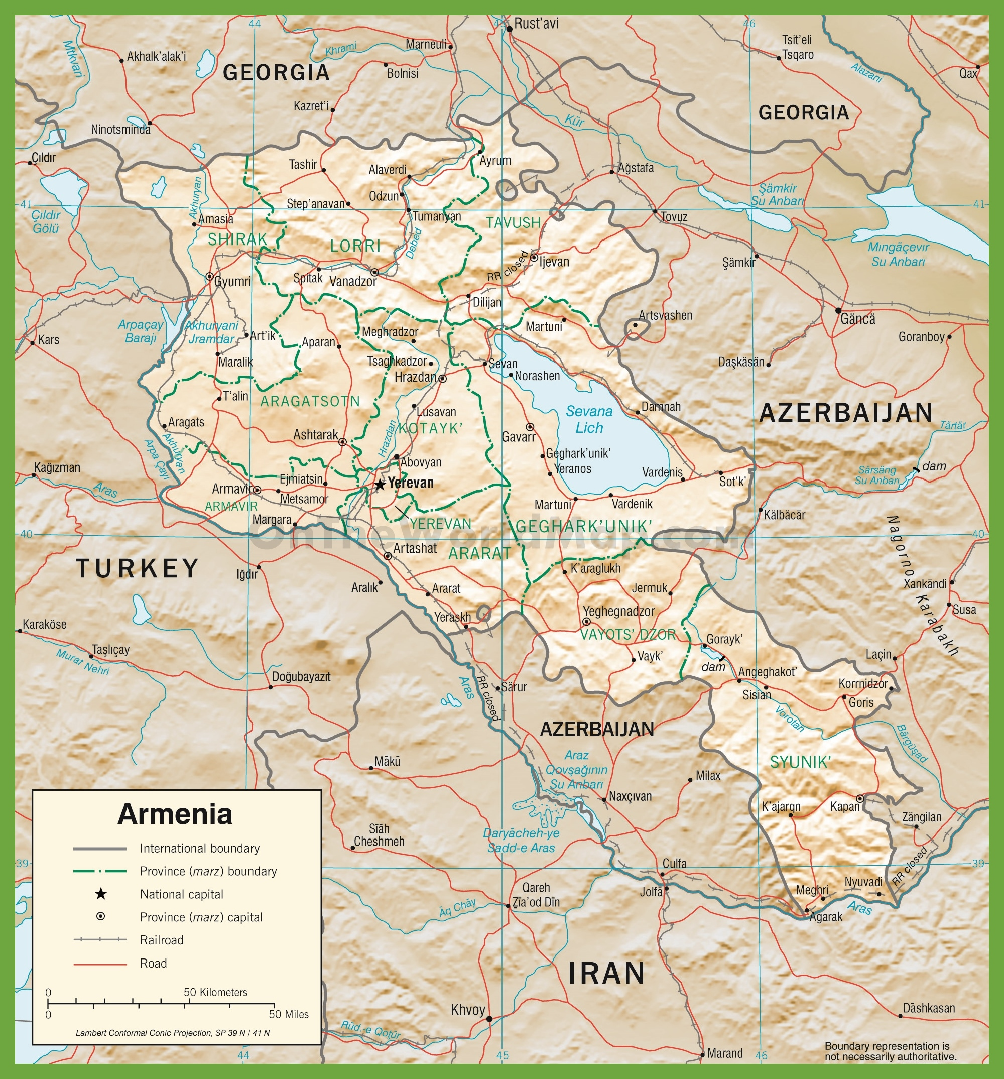 Armenia Maps Maps Of Armenia - Armenia map