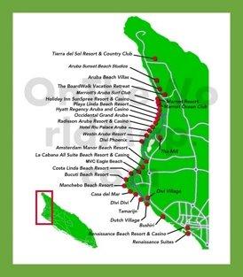 Aruba hotel map