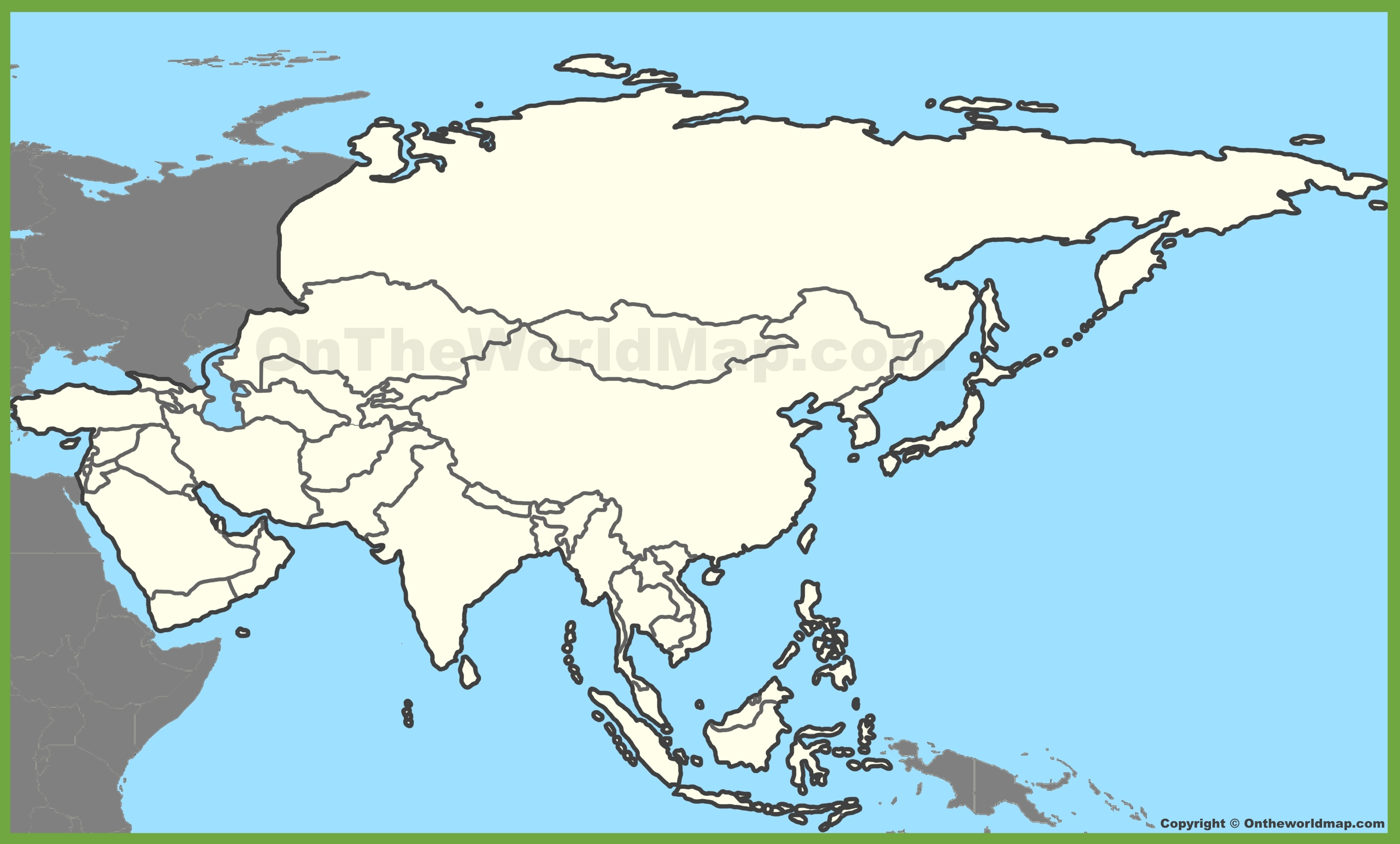 Asia Blank Map Blank map of Asia