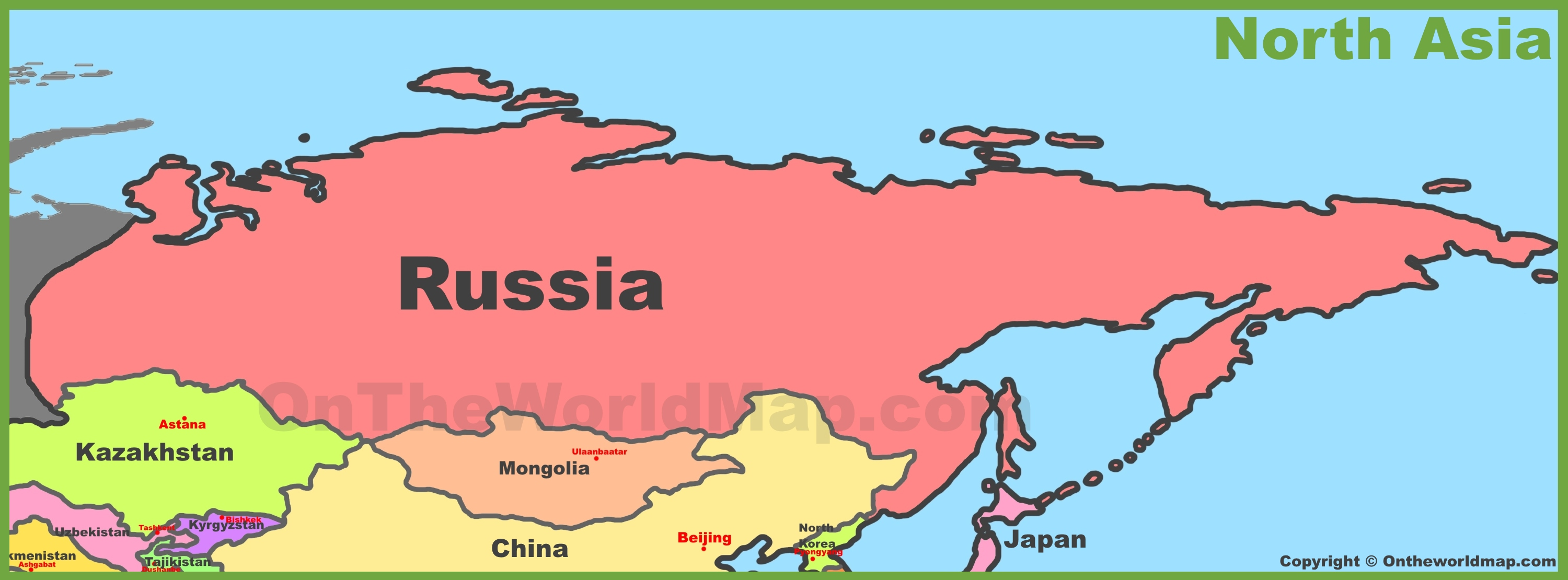 North Asia Map Map of North Asia (Northern Asia) North Asia Map