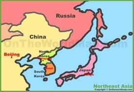 Map of Northeast Asia