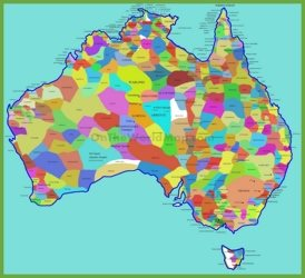 Aboriginal tribes map of Australia