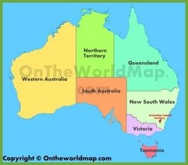 Administrative map of Australia