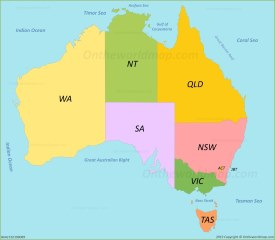 Australia Abbreviation Map