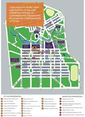 Adelaide CBD map