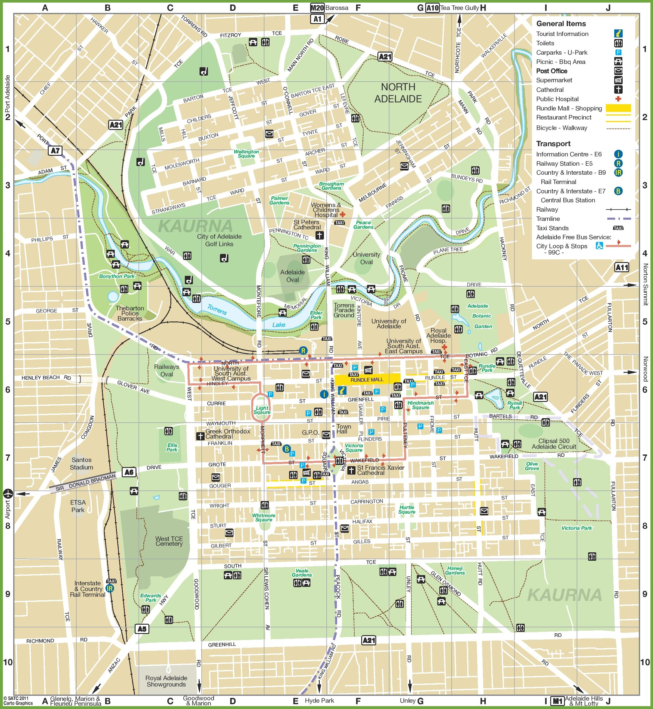 Map Of Adelaide Australia.Adelaide City Map