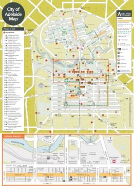 Adelaide sightseeing map